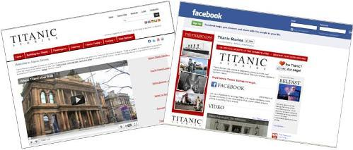 titanic internet pages