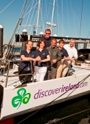 TI team on boat in Boston